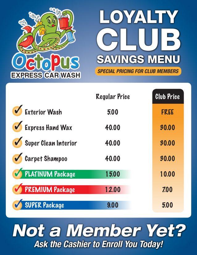 Exterior Express Loyalty Club Savings Menu FINAL